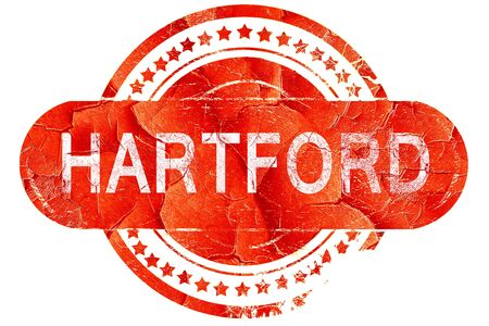 hartford: hartford, red grunge rubber stamp on white background