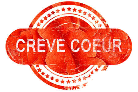 coeur: creve coeur, red grunge rubber stamp on white background Stock Photo
