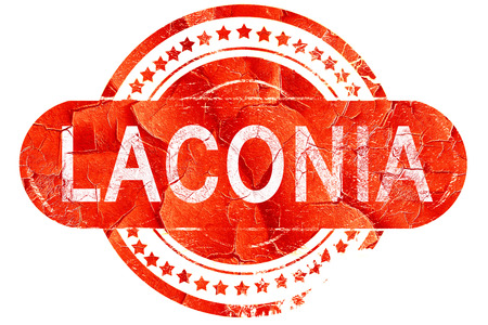 laconia: laconia, red grunge rubber stamp on white background