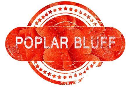 poplar: poplar bluff, red grunge rubber stamp on white background