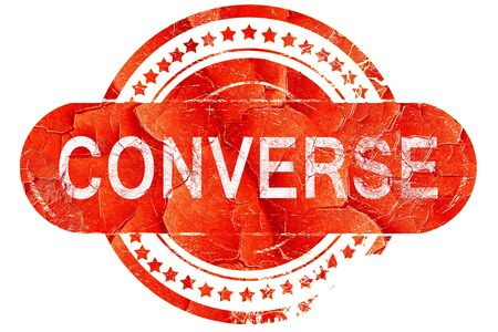converse: converse, red grunge rubber stamp on white background Stock Photo