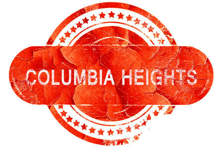 heights: columbia heights, red grunge rubber stamp on white background