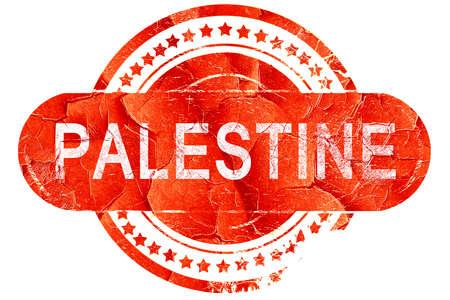 palestine: palestine, red grunge rubber stamp on white background
