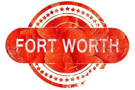 worth: fort worth, red grunge rubber stamp on white background
