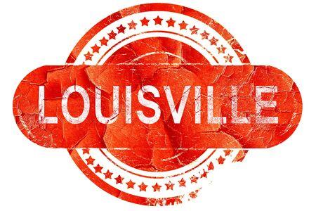 louisville: louisville, red grunge rubber stamp on white background