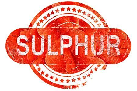sulphur, red grunge rubber stamp on white background