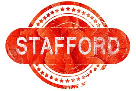 stafford: stafford, red grunge rubber stamp on white background Stock Photo