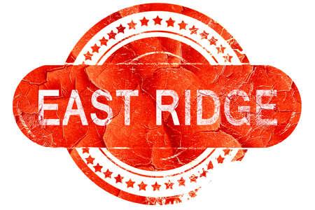 ridge: east ridge, red grunge rubber stamp on white background Stock Photo
