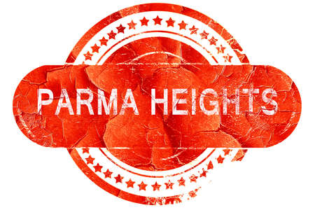 heights: parma heights, red grunge rubber stamp on white background Stock Photo