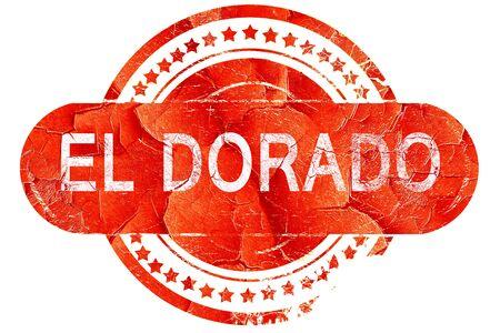 dorado: el dorado, red grunge rubber stamp on white background