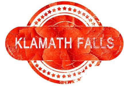 klamath: klamath falls, red grunge rubber stamp on white background Stock Photo