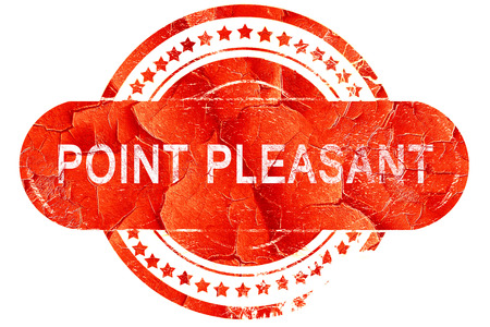 pleasant: point pleasant, red grunge rubber stamp on white background Stock Photo