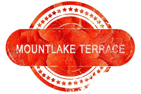 terrace: mountlake terrace, red grunge rubber stamp on white background