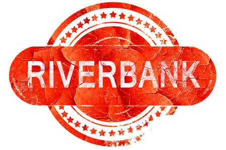 riverbank: riverbank, red grunge rubber stamp on white background Stock Photo