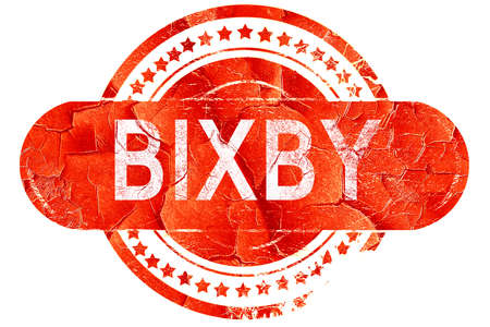 bixby: bixby, red grunge rubber stamp on white background