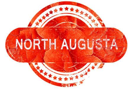augusta: north augusta, red grunge rubber stamp on white background Stock Photo