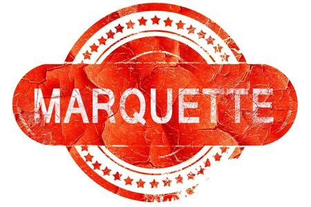 marquette: marquette, red grunge rubber stamp on white background Stock Photo