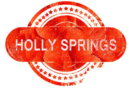 springs: holly springs, red grunge rubber stamp on white background Stock Photo