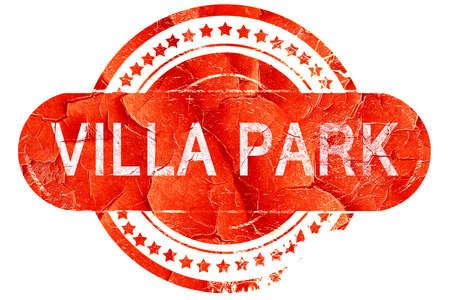 villa: villa park, red grunge rubber stamp on white background
