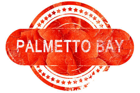 bay: palmetto bay, red grunge rubber stamp on white background
