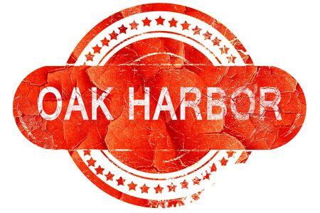 harbor: oak harbor, red grunge rubber stamp on white background Stock Photo