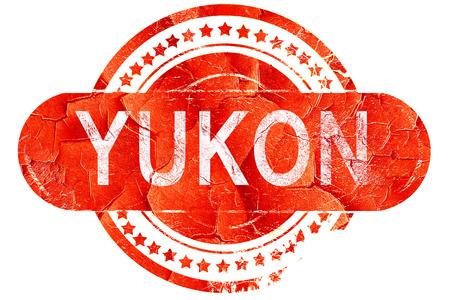 yukon: yukon, red grunge rubber stamp on white background