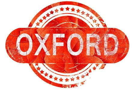 oxford: oxford, red grunge rubber stamp on white background Stock Photo