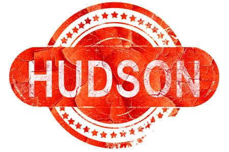 hudson: hudson, red grunge rubber stamp on white background Stock Photo