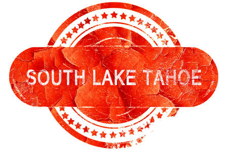 south lake tahoe: south lake tahoe, red grunge rubber stamp on white background