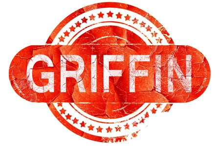 griffin: griffin, red grunge rubber stamp on white background Stock Photo
