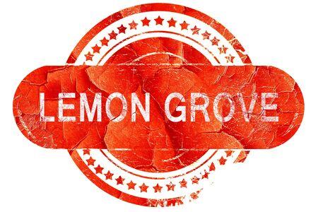 grove: lemon grove, red grunge rubber stamp on white background