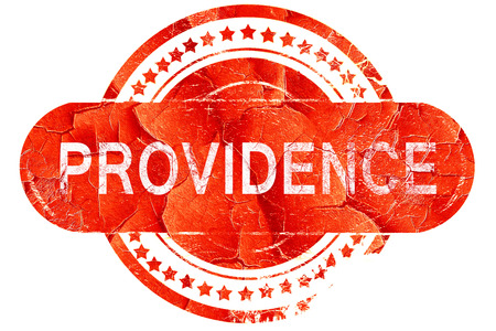 providence: providence, red grunge rubber stamp on white background