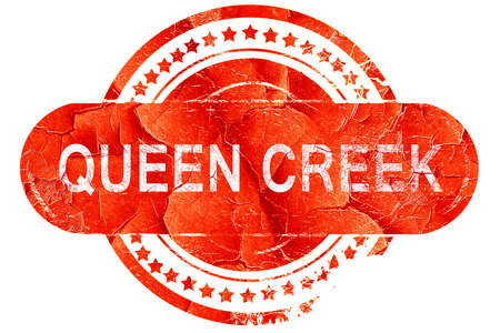 creek: queen creek, red grunge rubber stamp on white background Stock Photo