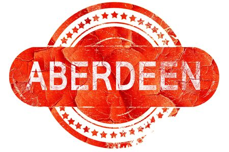 aberdeen, red grunge rubber stamp on white background Stock Photo