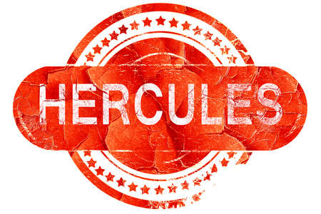 hercules: hercules, red grunge rubber stamp on white background