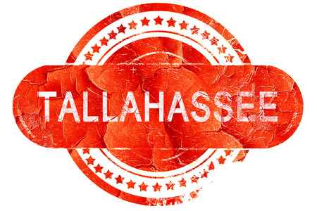 tallahassee: tallahassee, red grunge rubber stamp on white background Stock Photo