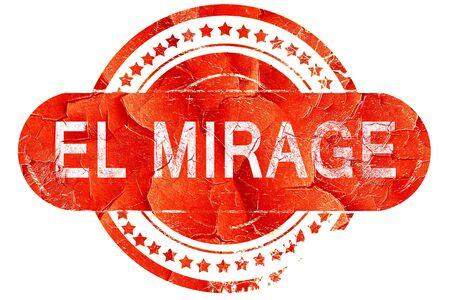 mirage: el mirage, red grunge rubber stamp on white background Stock Photo