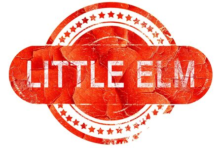 elm: little elm, red grunge rubber stamp on white background Stock Photo