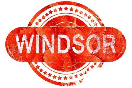 windsor: windsor, red grunge rubber stamp on white background