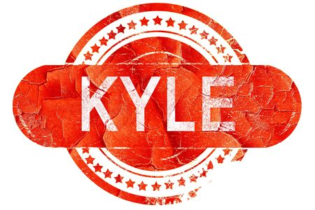 kyle: kyle, red grunge rubber stamp on white background