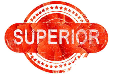 superior: superior, red grunge rubber stamp on white background