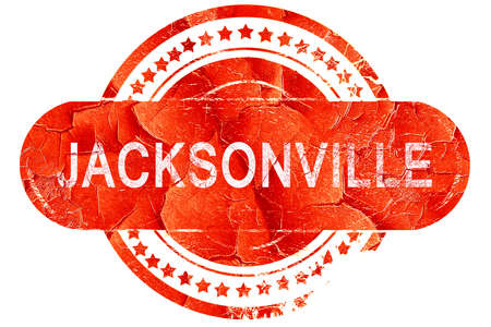 jacksonville: jacksonville, red grunge rubber stamp on white background Stock Photo