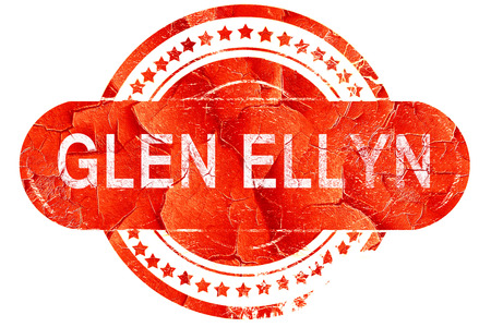 glen: glen ellyn, red grunge rubber stamp on white background