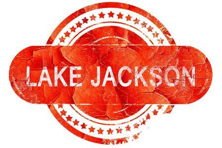 jackson: lake jackson, red grunge rubber stamp on white background