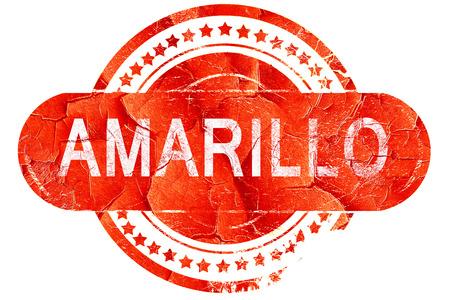 amarillo, red grunge rubber stamp on white background