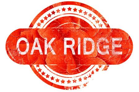 ridge: oak ridge, red grunge rubber stamp on white background Stock Photo