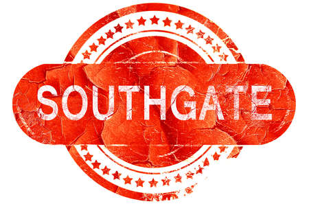 southgate: southgate, red grunge rubber stamp on white background Stock Photo