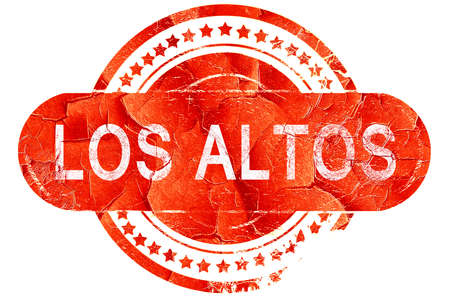 los: los altos, red grunge rubber stamp on white background Stock Photo