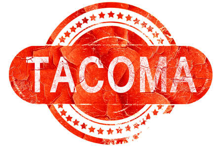 tacoma: tacoma, red grunge rubber stamp on white background