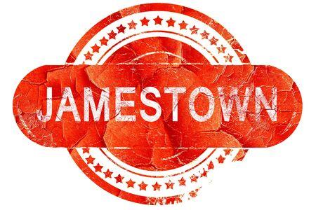 Jamestown Red Grunge Rubber Stamp On White Background Stock Photo
